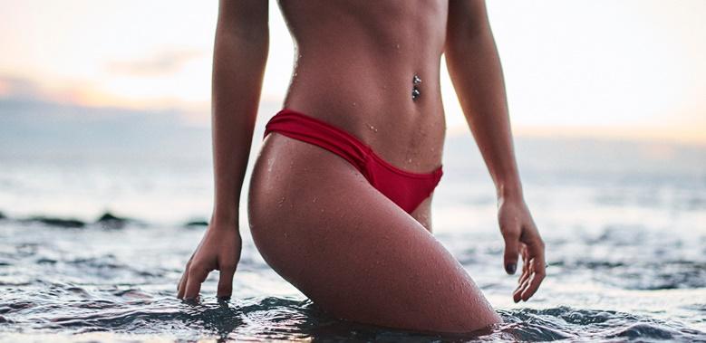 bauchfett abbauen strandfigur