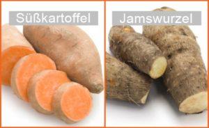 süßkartoffel jamswurzel